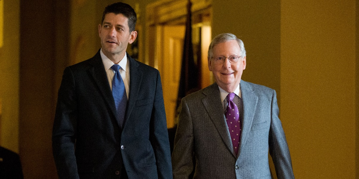 House Speaker Paul Ryan and Senate Majority Leader Mitch McConnell