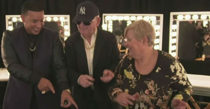 James Corden's dad was just caught rapping with Daddy Yankee, and it's adorable