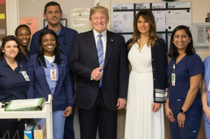 Democrats heap criticism on Trump after he showed up grinning at the hospital to greet Florida shooting victims