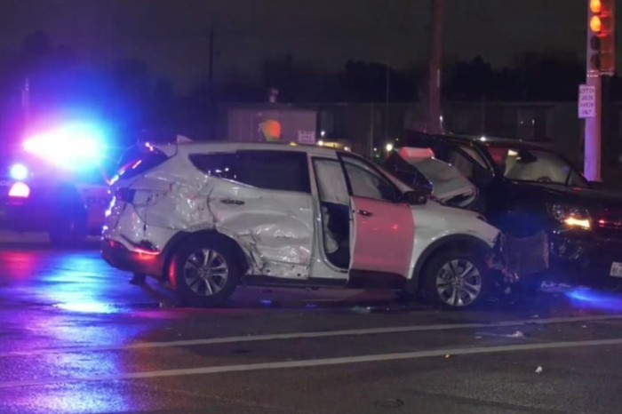 A woman ran her last red light in Clear Lake, wrecking three other cars in the incident