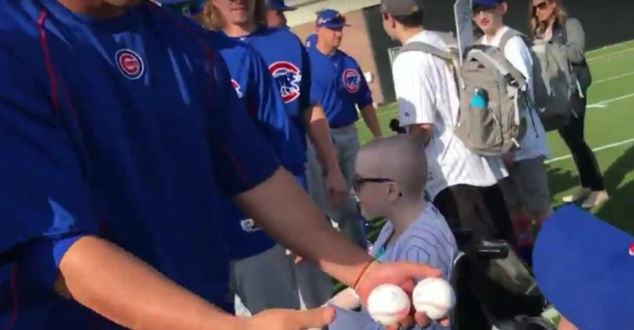 Hospital patients surprised by Cubs with tickets to Spring Training