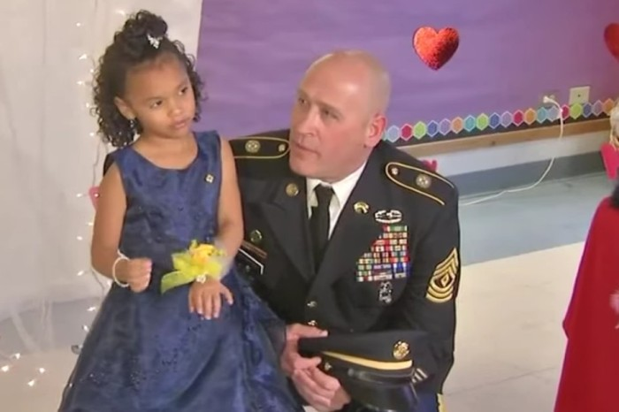 Girl's father dies and soldier steps in at her daddy-daughter dance