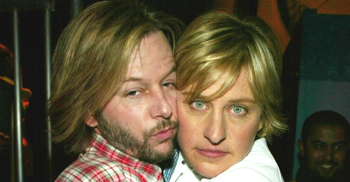 "David Spade was so ""out of it"" at Ellen DeGeneres' birthday party that he thought Ellen was Justin Bieber"