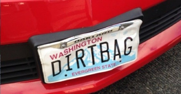 """Man with """"DIRTBAG"""" vanity plate is arrested after living up to his name — and could see years in prison"""