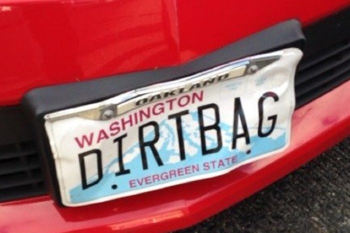 "Man with ""DIRTBAG"" vanity plate is arrested after living up to his name — and could see years in prison"