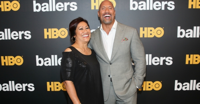 "The Rock took a break from shooting a poignant episode of ""Ballers"" to talk about his mother's suicide attempt"