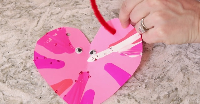 Break out the salad spinner you never use, because you need it to make these cute valentines