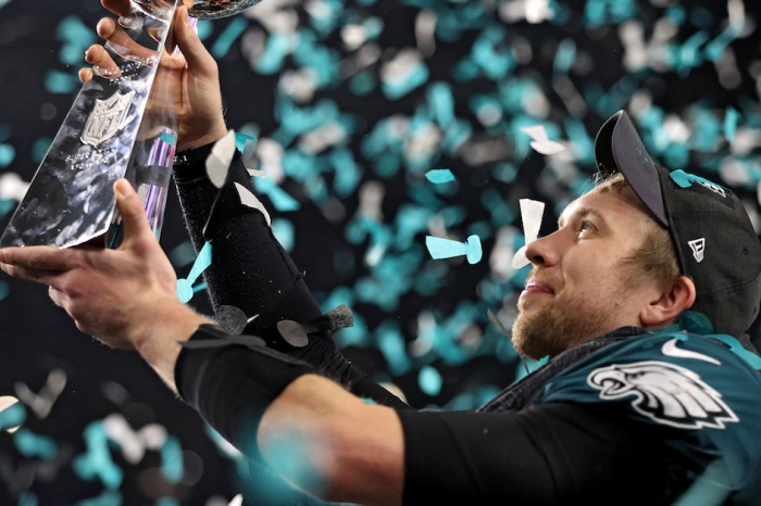 Super Bowl-winning quarterback Nick Foles says he has a higher calling after football — literally