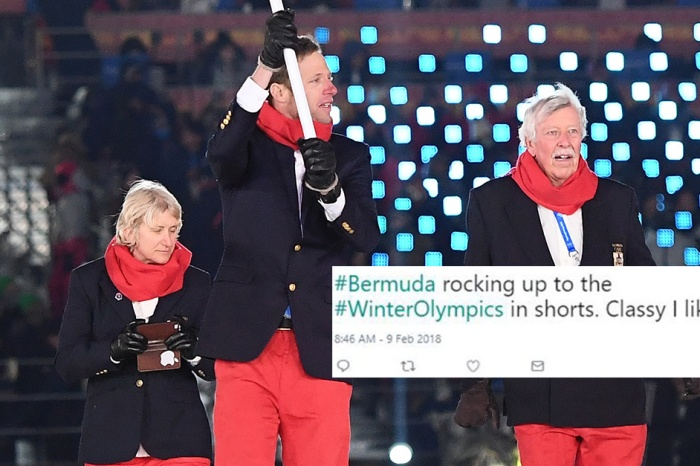 Bermuda just wore shorts to the Winter Olympic opening ceremonies