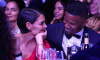 Actor Jamie Foxx and girlfriend actress Katie Holmes