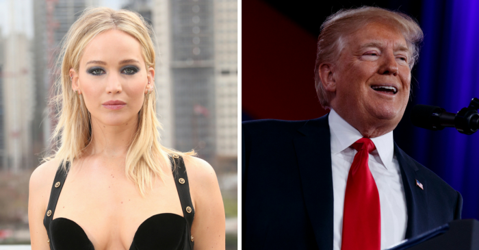 "Actress Jennifer Lawrence surprisingly criticizes Hillary Clinton for ""chastising"" Trump supporters"