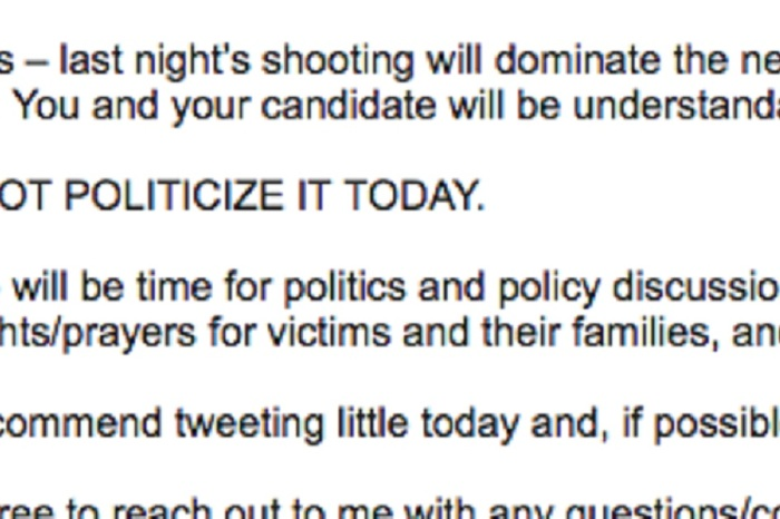 "Leaked DCCC email shows them taking a very different stance on ""thoughts and prayers"""