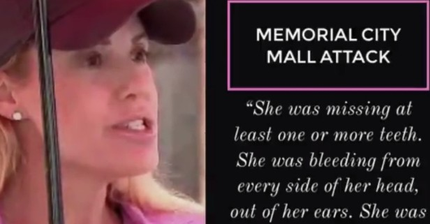 Mall-walker reportedly discovered a bloodied scene when she took a restroom break at Memorial City