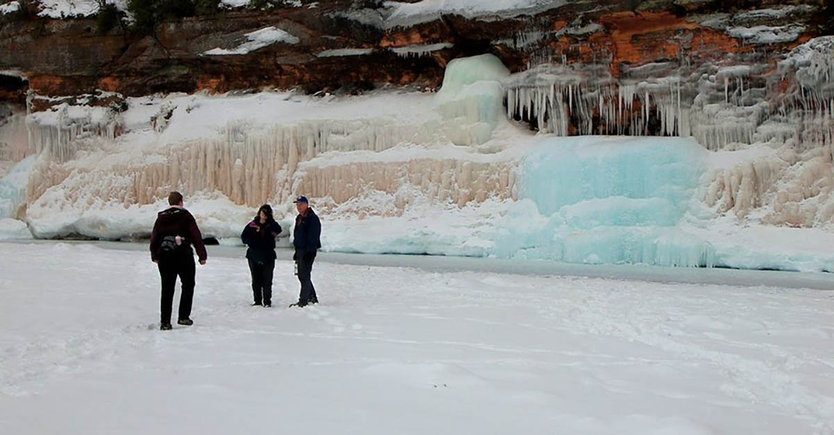 Apostle Islands National Lakeshore blue ice