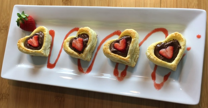 Treat yourself to these adorable Nutella pastries this Valentine's Day