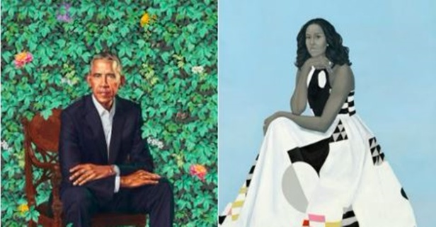 After the Obamas' official portraits were unveiled, people had a lot to say