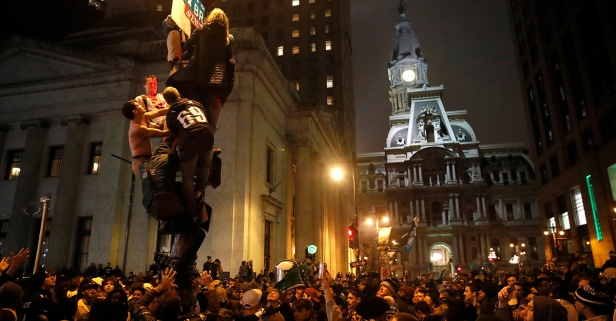 After the Eagles won their first-ever Super Bowl, Philly's celebration was absolutely insane
