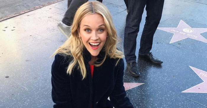 Reese Witherspoon just shared a photo of herself visiting her Hollywood star