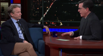 "Rand Paul goes into detail with Stephen Colbert on how the drug war unfairly targets ""black and brown"" people"