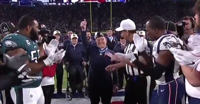Seeing this Medal of Honor recipient flip the coin for the Super Bowl LII will make you proud to be an American