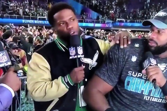 Comedian Kevin Hart accidentally drops 'F-word' during super bowl interview