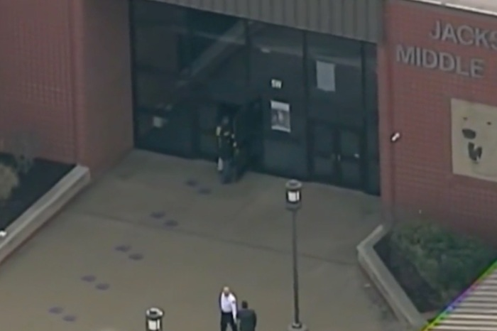 A 7th grade Ohio student walked into school this morning and shot himself