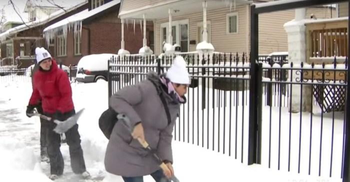 Volunteers help South Side seniors shovel over foot of snow