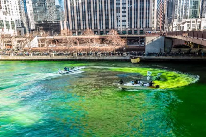 Chicago St. Patrick's Day specials by parade route and river dyeing
