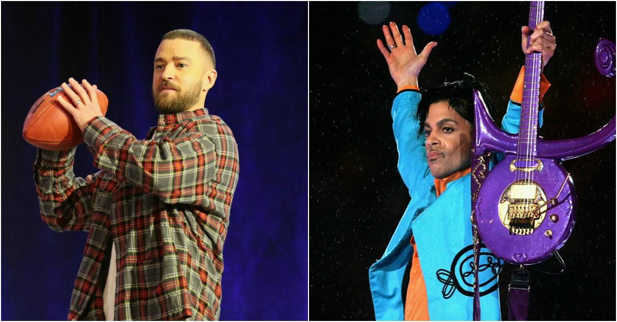 Justin Timberlake and Prince Super Bowl LII