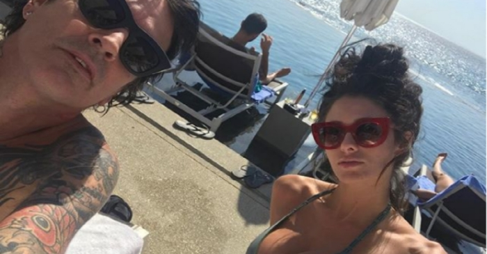 55-year-old rocker Tommy Lee and his much younger girlfriend are taking their relationship to the next level
