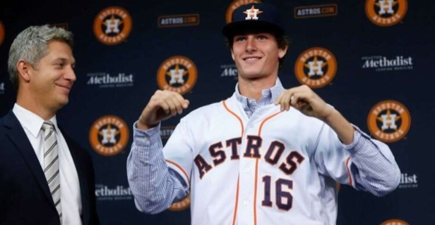 Top Astros pitching prospect Forrest Whitley reportedly suspended 50 games for drug violation