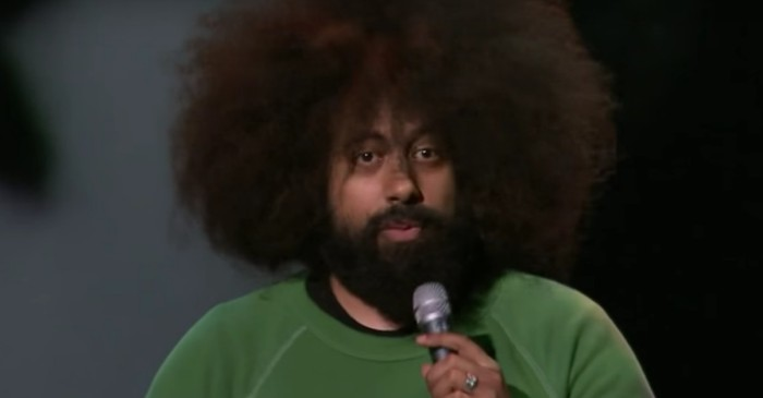 Human-Reggie Watts helps Cat-Reggie Watts in cat custody battle
