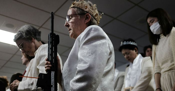 Pennsylvania worshippers bring their assault rifles to church for unsettling blessing ceremony