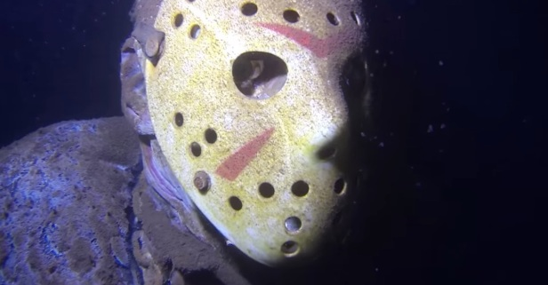 Creepy underwater statue of Jason Voorhees in Minnesota lake continues to spook swimmers