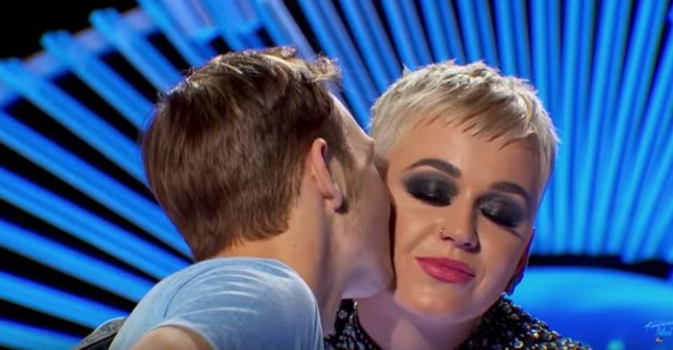 "This ""American Idol"" contestant's first kiss was with judge Katy Perry"