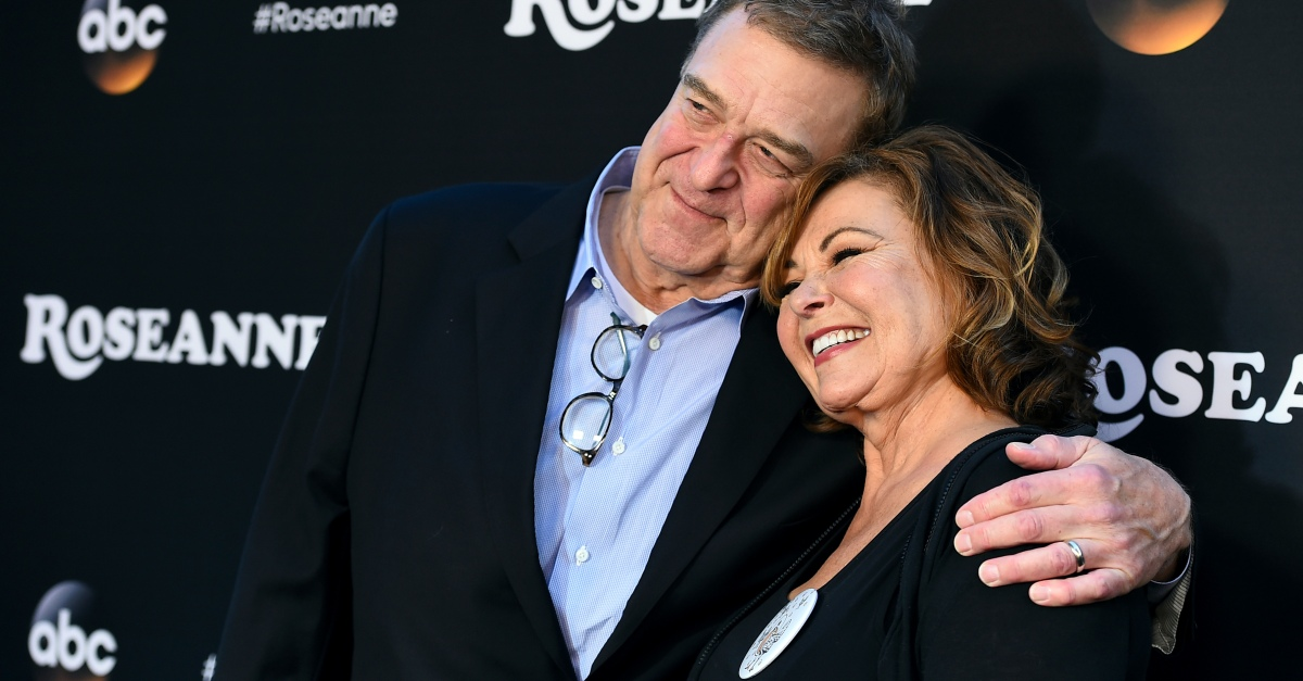 John Goodman, Roseanne Barr