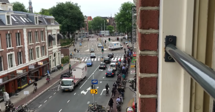 Rush Hour in Amsterdam Has More Bicycles Than the Tour de France