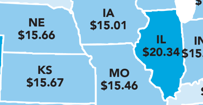 The Hourly Salary Needed in 2018 to Afford a 2-Bedroom Rental in Each State