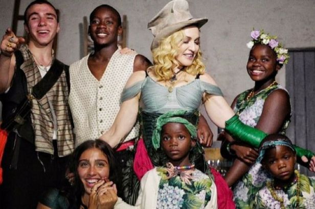 Madonna Shares Touching Instagram Photo Of Her 6 Children in Malawi