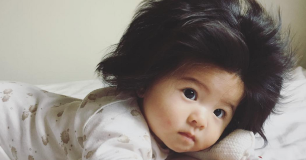 How Does This 7-Month Old Baby Have Such a Glorious Head of Hair???