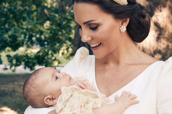The Royal Family Released Prince Louis' Christening Photos and Awww