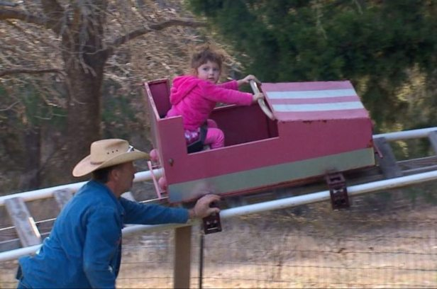 Texas Grandpa Builds His Granddaughter an Incredible Backyard Theme Park