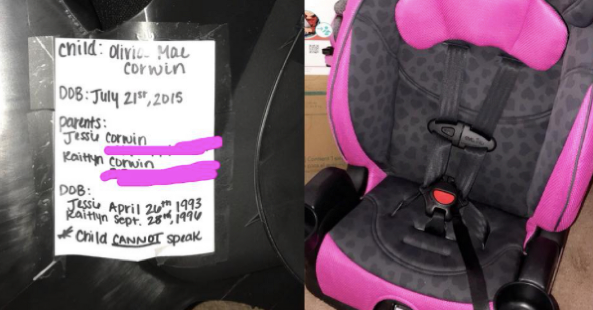 EMT Mom Recommends Adding Vital Info To Car Seat