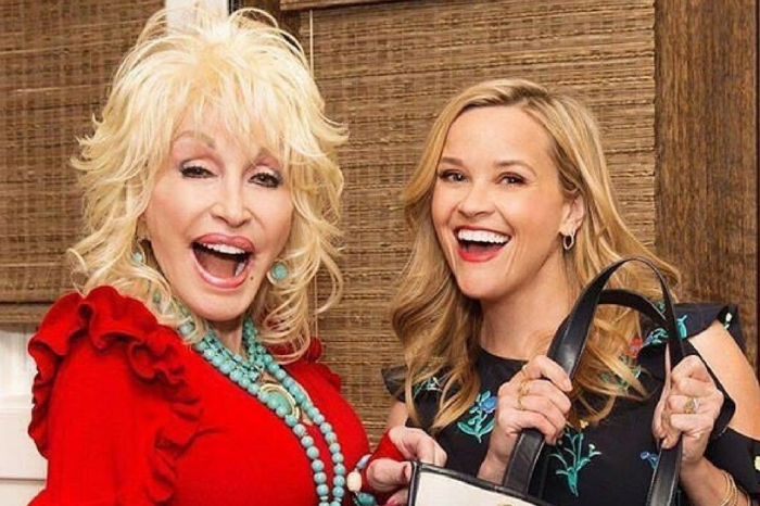 Reese Witherspoon Takes Us Inside Dolly Parton's Closet and So. Many. Sequins.