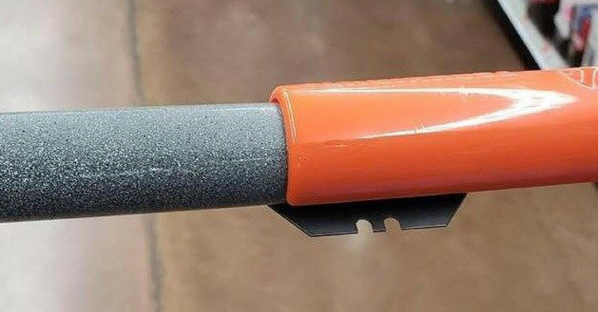 Hidden Razor Blades Found on Wal-Mart Shopping Cart Handles