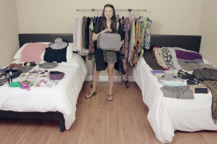 Watch This Woman Pack More Than 100 Items In A Carry-On Bag