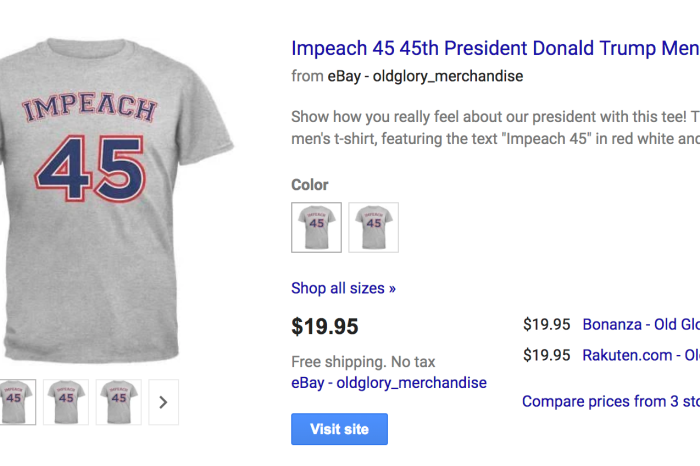 Walmart Gets Massive Backlash Over Their Impeach Trump Shirt