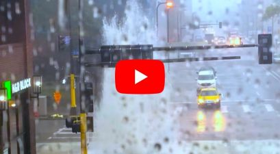 Sewer Explodes Like a Geyser During Minneapolis Storm