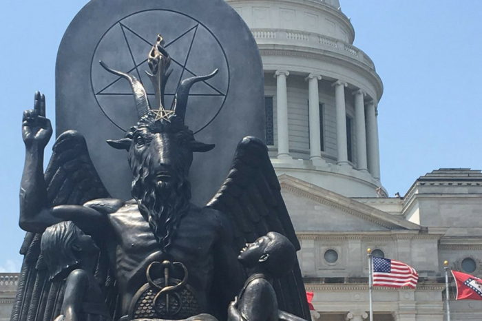 Satanic Temple Unveils Statue at Arkansas Capitol as First Amendment Protest