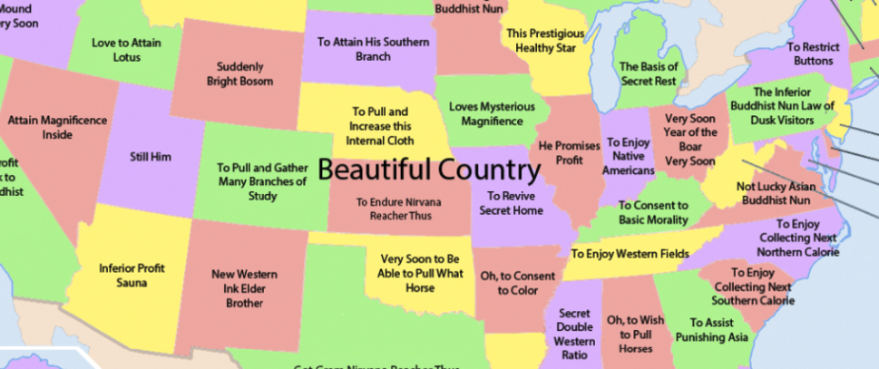 This Map Hilariously Translated Chinese Characters Into US States